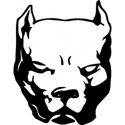 Autoaufkleber: Pitbull-Aufkleber Aufkleber Hund