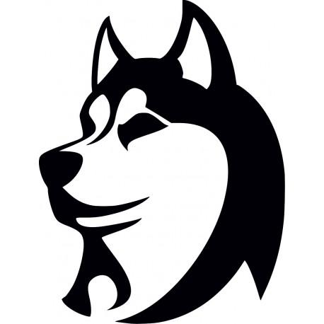 Aufkleber: Hundeaufkleber Haski