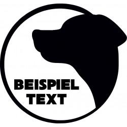 Hundeaufkleber mit Wunschtext