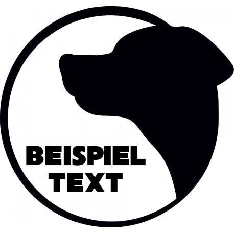 Aufkleber: Hundeaufkleber mit Wunschtext