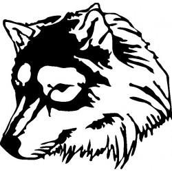 aufkleber autoaufkleber fl�gel, wolf, hund, babyaufkleber Hund Aufkleber