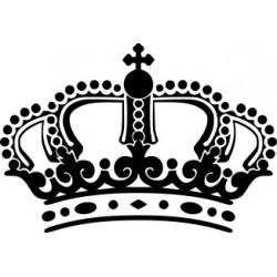 Aufkleber Krone