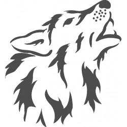 aufkleber autoaufkleber fl�gel, wolf, hund, babyaufkleber Wolf 2-Aufkleber