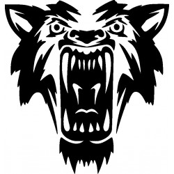 Autoaufkleber: Wolf 4-Aufkleber Aufkleber Hund