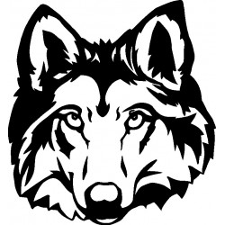 Autoaufkleber: Wolf 5-Aufkleber Aufkleber Hund