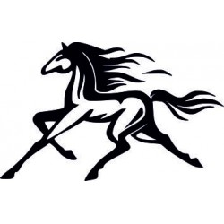 Autoaufkleber: Aufkleber Pferd 39 PFERDE aufkleber anhänger pferdesport