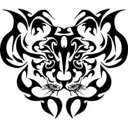 aufkleber autoaufkleber fl�gel, wolf, hund, babyaufkleber TIGER 14