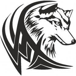 Wolf 6-Aufkleber
