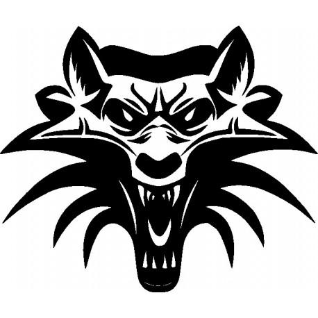 Aufkleber: Wolf 7-Aufkleber