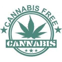 Cannabis Hanf Aufkleber