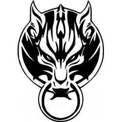 Wolf 8-Aufkleber