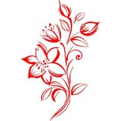 aufkleber autoaufkleber fl�gel, wolf, hund, babyaufkleber Blumenranke Aufkleber 1