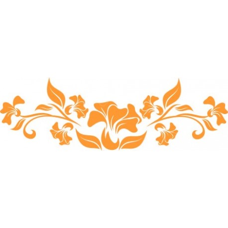 Aufkleber: Blumenranke 52