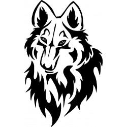Wolf 9-Aufkleber