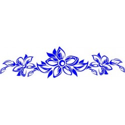 aufkleber autoaufkleber fl�gel, wolf, hund, babyaufkleber Aufkleber-Blumen 43