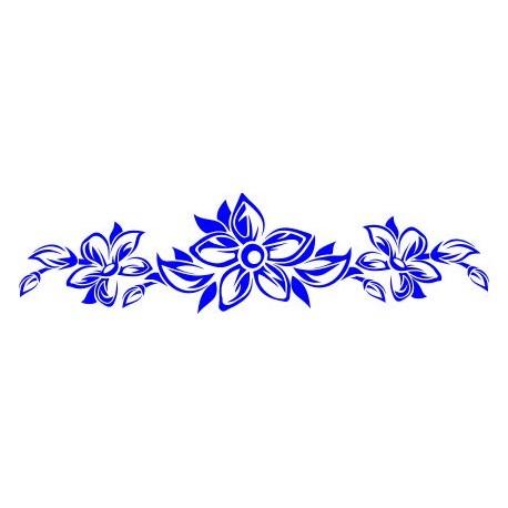 Aufkleber: Blumenranke 55