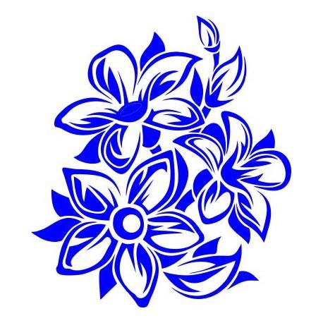 Aufkleber: Blumen 55