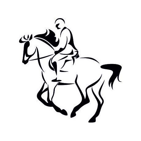 Aufkleber: Pferderennen