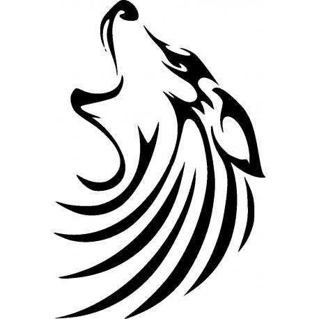 Aufkleber: Wolf 12-Aufkleber