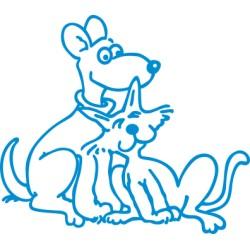 aufkleber autoaufkleber fl�gel, wolf, hund, babyaufkleber KATZE comic3