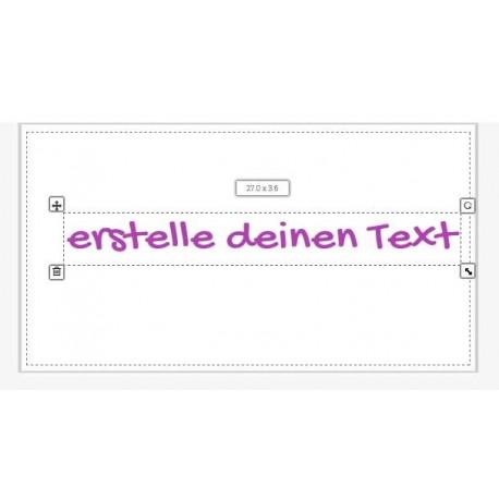 Aufkleber: Text Aufkleber selber gestalten