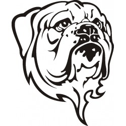 Autoaufkleber: Dogge 1 Hund Aufkleber
