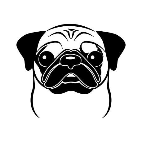 Aufkleber: Mops 1 Hund Aufkleber