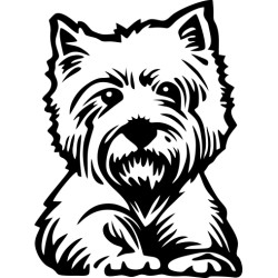 Autoaufkleber: Westi - West Highland Terrier Westi - West Highland Terrier