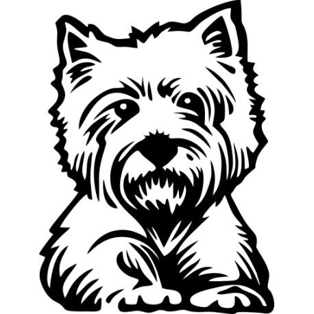 Aufkleber: Westi - West Highland Terrier