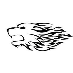 Hundekopf Aufkleber