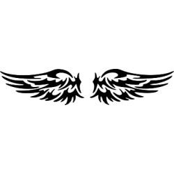 Autoaufkleber: Flügel heckscheibenaufkleber 26 Flügel heckscheibenaufkleber 26