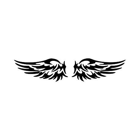 Aufkleber: Flügel heckscheibenaufkleber 26