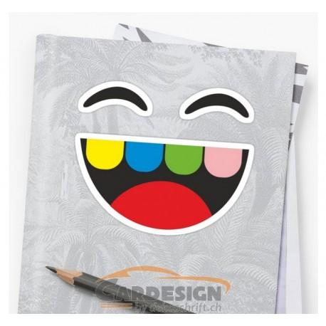Aufkleber: Lachen - bunte Aufkleber