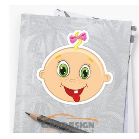 Aufkleber: Baby Mädchen - bunte Aufkleber