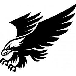 aufkleber autoaufkleber fl�gel, wolf, hund, babyaufkleber Adler Aufkleber 8