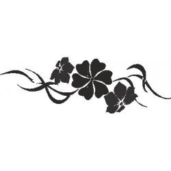 aufkleber autoaufkleber fl�gel, wolf, hund, babyaufkleber Blumen Dekoration 174