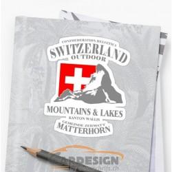 aufkleber autoaufkleber fl�gel, wolf, hund, babyaufkleber Matterhorn - bunte Aufkleber