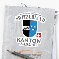 Kanton Aargau - bunte Aufkleber