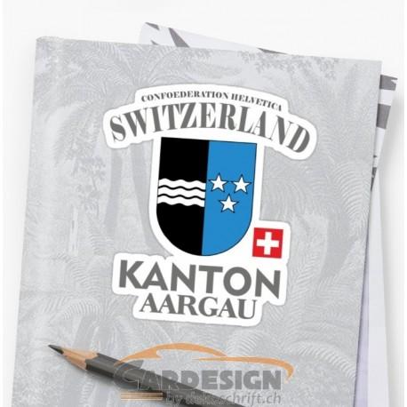 Aufkleber: Kanton Aargau - bunte Aufkleber