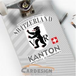 aufkleber autoaufkleber fl�gel, wolf, hund, babyaufkleber Kanton Appenzell Ausserroden - bunte Aufkleber