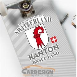 Kanton Basel Land - bunte Aufkleber