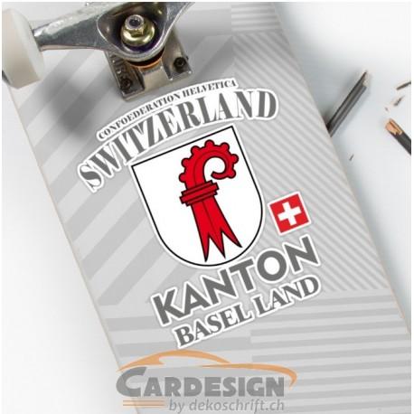 Aufkleber: Kanton Basel Land - bunte Aufkleber