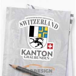 Kanton Graubünden - bunte Aufkleber
