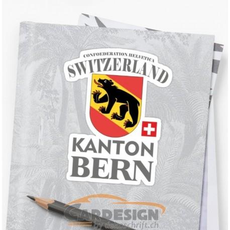 Aufkleber: Kanton Bern - bunte Aufkleber