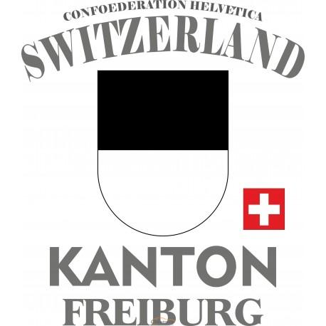 Aufkleber: Kanton Freiburg - bunte Aufkleber