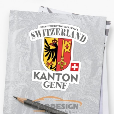 Aufkleber: Kanton Genf - bunte Aufkleber