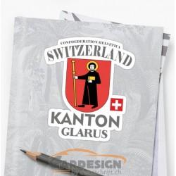 Kanton Glarus Schweiz - bunte Aufkleber