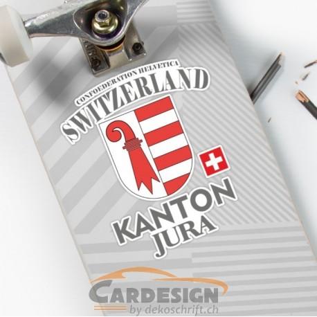 Aufkleber: Kanton Jura Schweiz - bunte Aufkleber
