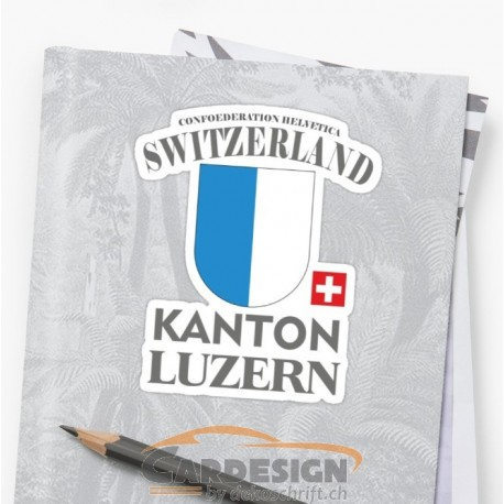 Aufkleber: Kanton Luzern Schweiz - bunte Aufkleber