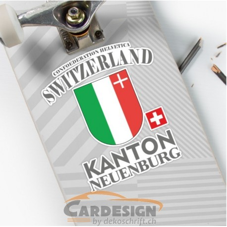Aufkleber: Kanton Neuenburg Schweiz - bunte Aufkleber